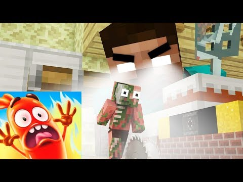 Monster School: Run Sausage Run Challenge - Minecraft Animation