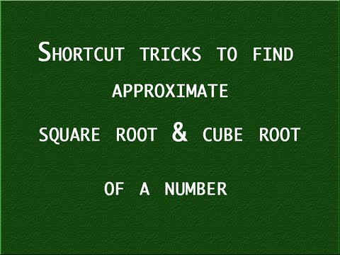 square roots and cube roots shortcuts pdf