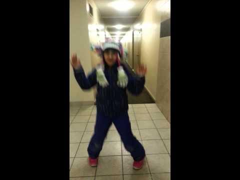 Dancing in a snowsuit
