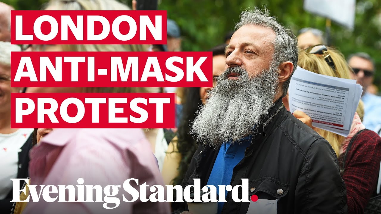 London Hyde Park protest: Hundreds gather to protest against wearing face masks