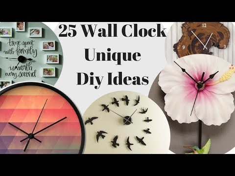 25 Wall Clock Diy Ideas. Unique Home Interior Design!