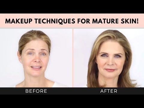 Simple makeup tips to look 10 years younger! Mature skin
