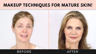 Makeup Techniques for Mature Skin over 40, 50! Dawn and Joseph