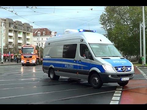 Dresden Polizei Eskort für Schwerlasttransport [11.2013]