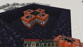 Compressing Coal Into Diamond Using TNT in Minecraft
