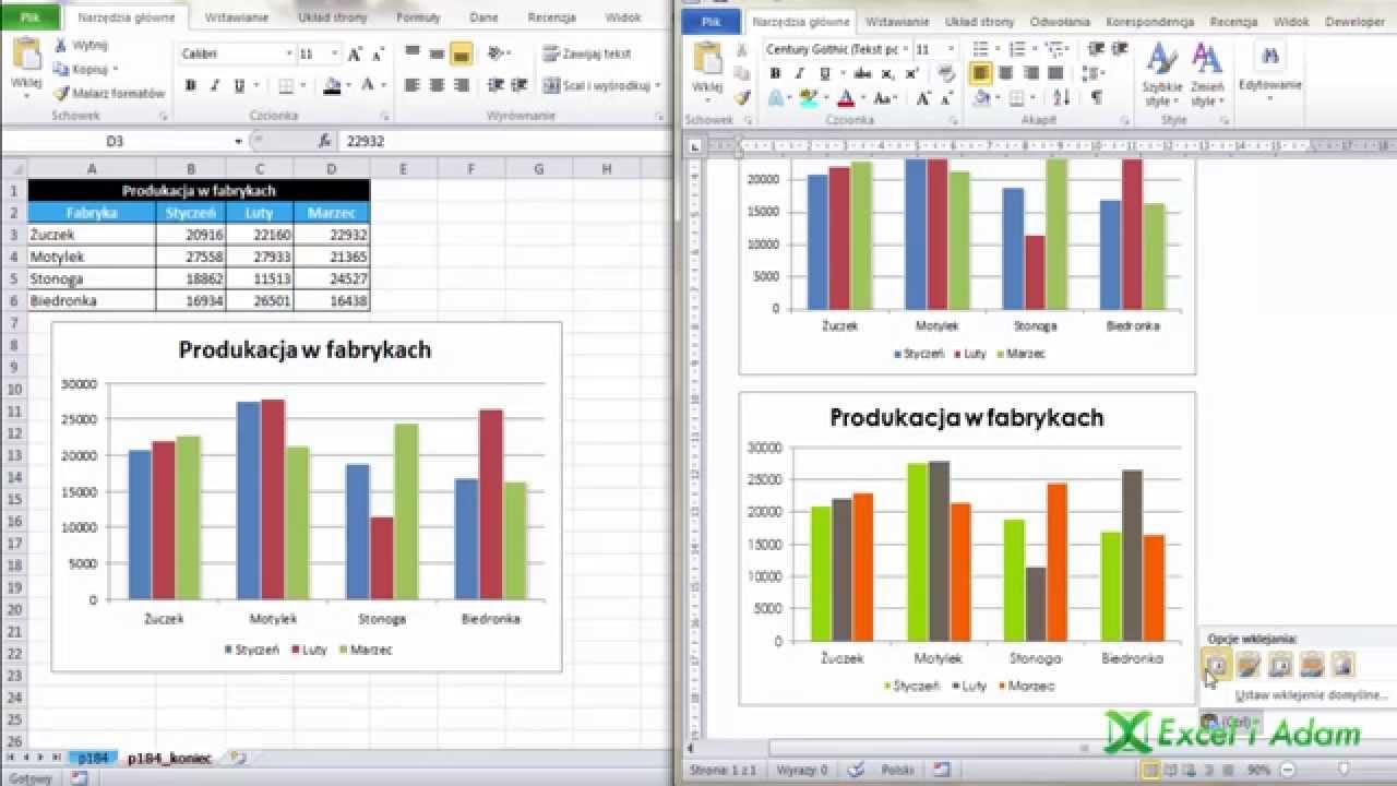 Excel wykres excela w wordzie porada 184 youtube ccuart Gallery