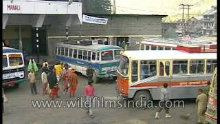 Manali bus-stop in 1990's - HRTC Bus Station in Himachal Pradesh