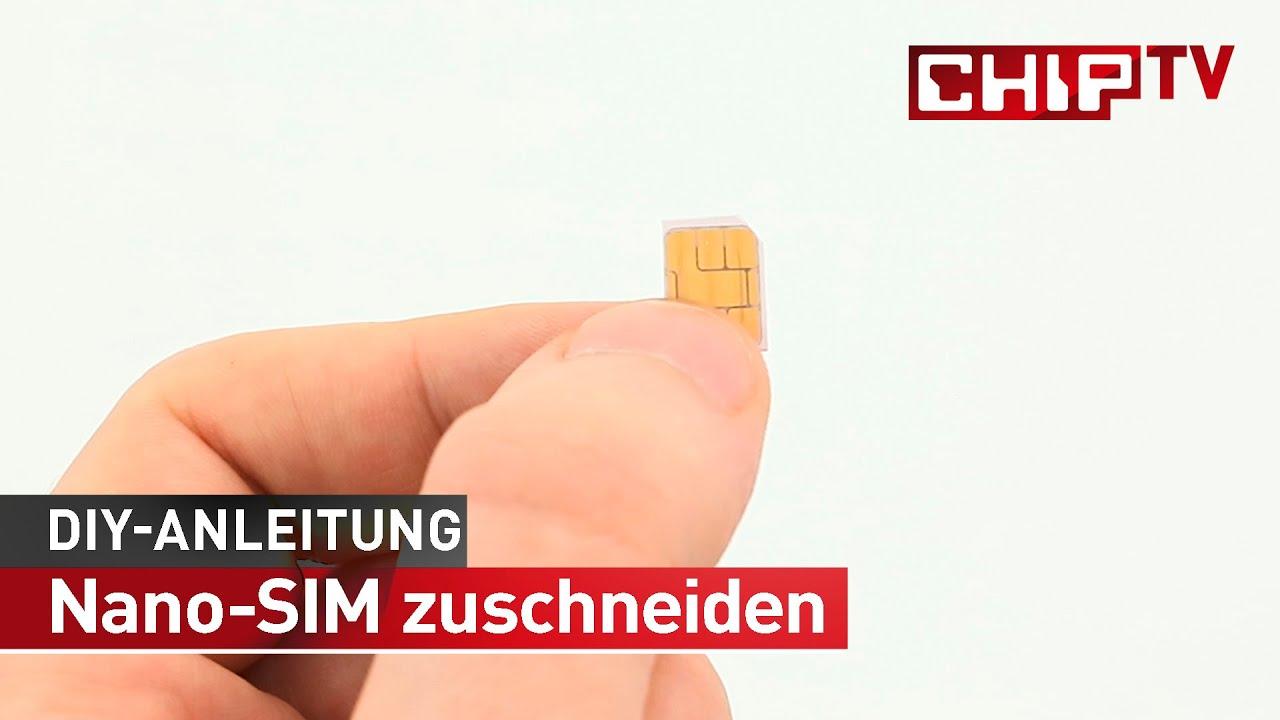 Nano Sim Karte Bilder.Nano Sim Zuschneiden Tutorial Deutsch Chip