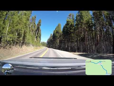 WY018_03sep2018_3 Yellowstone, Fishing Bridge Center, Canyon Village Junction, Norris