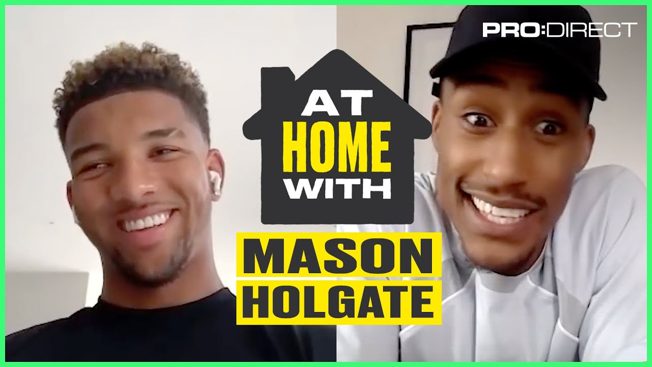 DOES MASON HOLGATE RATE FILLY'S TRACKSUIT GAME? | AT HOME WITH...