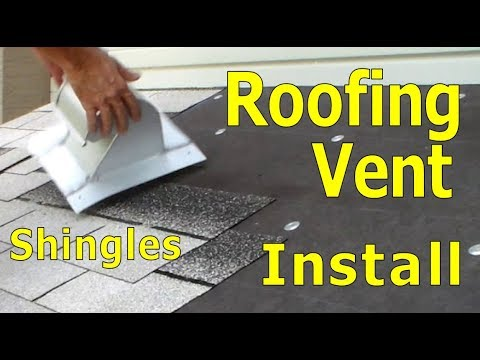 Roofing How To Install Exhaust Vent Stove Dryer Bathroom Asphalt Shingles