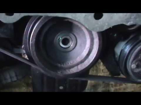 NISSAN SUNNY двс GA18 замена лобового сальника
