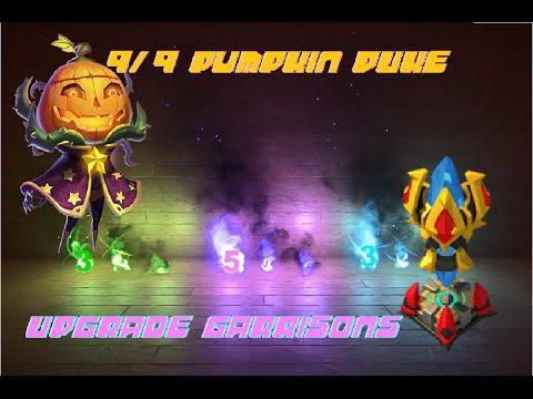 Castle Clash 9/9 Pumpkin Duke & Upgrading Garrisons