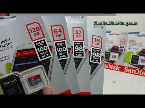 Micro SDXC SANDISK ultra 128Gb class 10 100Mb/s A1