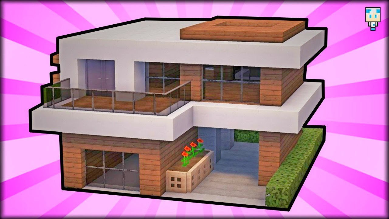 Tuto maison moderne facile faire minecraft youtube - Faire plan maison facile ...