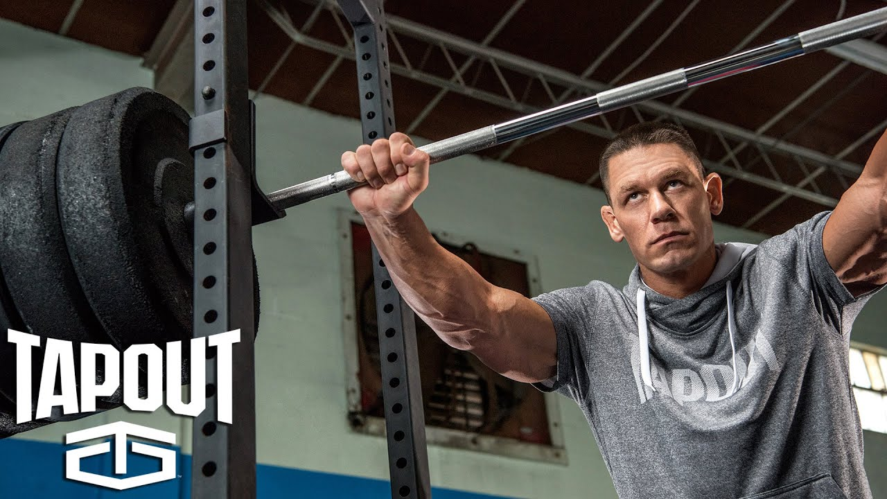 Go behind the scenes of john cena 39 s workout powered by - John cena gym image ...