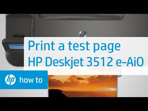 Printing a Test Page | HP Deskjet 3512 e-All-in-One Printer | HP