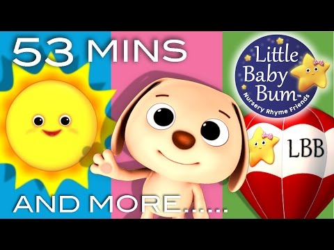Mr Sun, Mr Golden Sun | Plus Lots More Nursery Rhymes | 53 Minutes Compilation from LittleBabyBum!