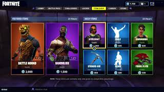 BATTLHOUND AND BANDOLIER SKIN IN FORTNITE ITEM SHOP