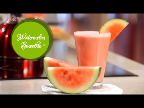 Watermelon Yogurt Smoothie - Healthy Watermelon Smoothie Without Seeds - Watermelon Cutting Hacks