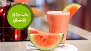 Watermelon Yogurt Smoothie - Healthy Watermelon Smoothie Without Seeds - Watermelon Cutting Hacks