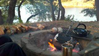 Cachuma Lake Site 311 Camp Fire, Pie Irons And Nature