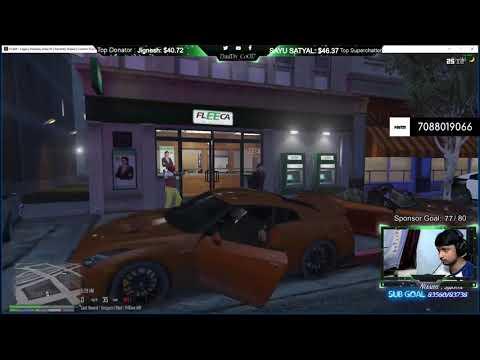GTA 5 RP 3 Bank Rob COP CHASE ft Pedro and Churan Hindi | India