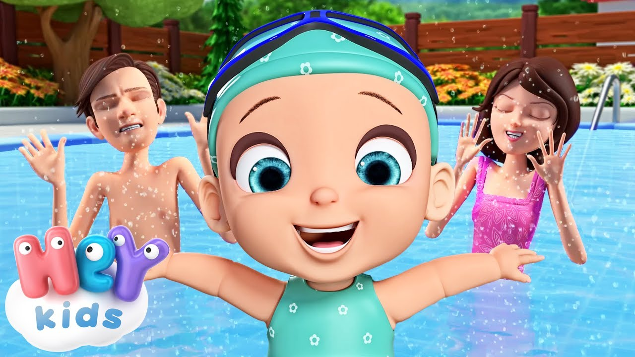 Swimming song for kids 🏊 Swim like a little fish | HeyKids - Nursery Rhymes