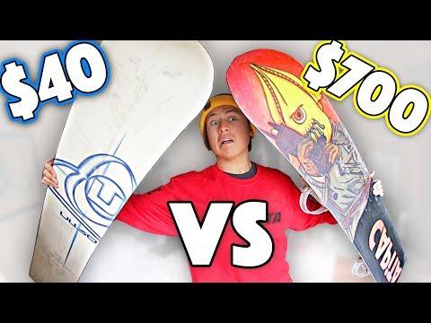 $40 Snowboard VS $700 Snowboard