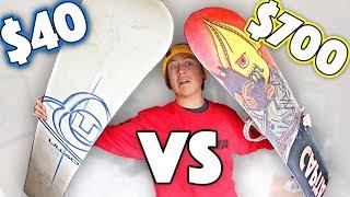 Snowboard - $40 Snowboard VS $700 Snowboard