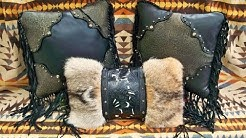 Black & Gold Pillows With Montana Coyote