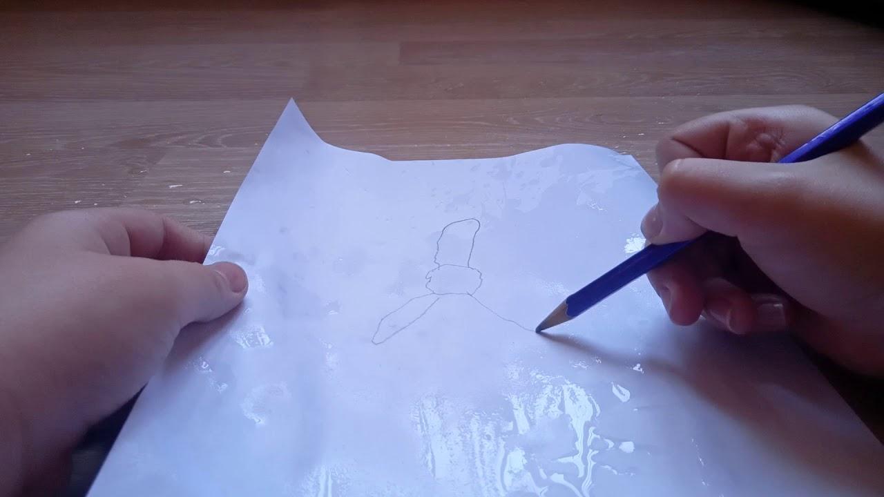Как красиво нарисовать цветок - YouTube