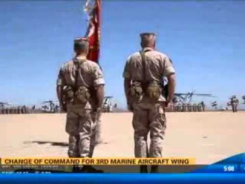 CBS 8  at 5 a.m. coverage of 3rd Marine Aircraft Wing change of command ceremony