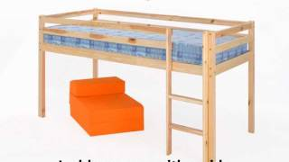 Mid Sleeper Pine White Bunk Bed