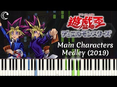 Main Characters Medley (2019) from Yu-Gi-Oh! | Piano Cover (Synthesia)