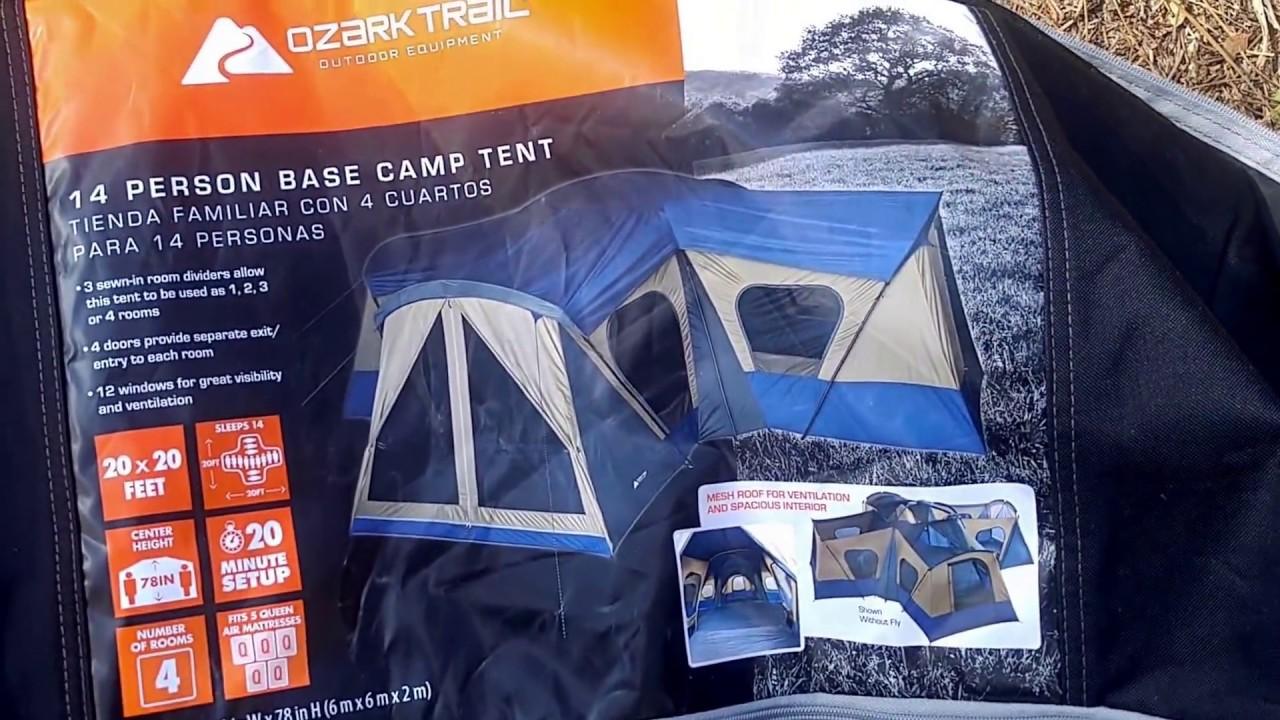 Ozark Trail 14 person tent 4/5/17 & Ozark Trail 14 person tent 4/5/17 - YouTube