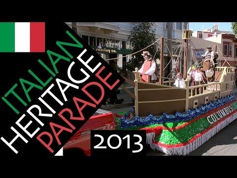 Italian Heritage (Columbus Day) Parade 2013 San Francisco North Beach (compilation)