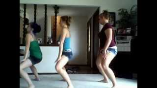 Girls Dancing to Wobble Baby