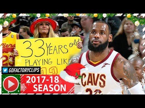 LeBron James BIRTHDAY Full Highlights vs Jazz (2017.12.30) - 29 Pts, 8 Reb, 6 Ast