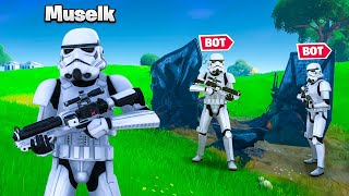 Hiding as STORMTROOPER BOTS In Fortnite!