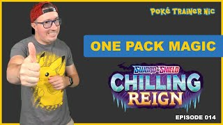 Pokémon Sword & Shield Chilling Reign One Pack Magic or Not, Episode 14 #Shorts