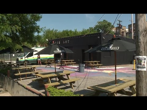 Platform Brewery Creates New Outdoor Beer Garden Made Up Of Themed Shipping Containers Youtube
