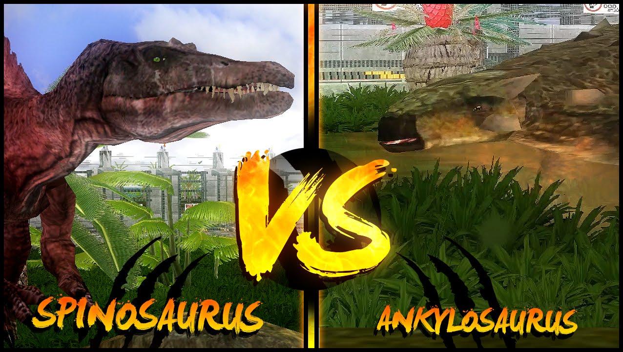 Dinosaur Battles - Spinosaurus Vs Ankylosaurus   Jurassic ...