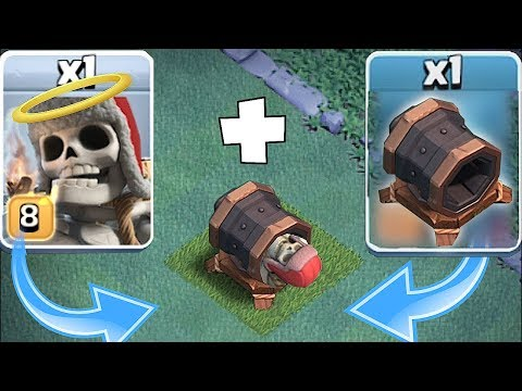 GIANT CANNON SKELETON BOMB! | Clash Of Clans | TROLL ATTACK!!