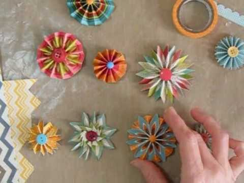 Making accordion flowers or rosettes with chevron papers youtube making accordion flowers or rosettes with chevron papers mightylinksfo