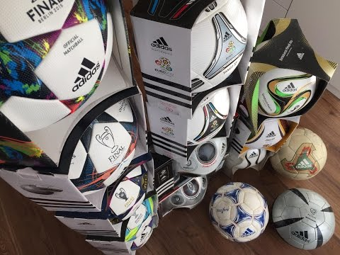 Adidas Matchball COLLECTION History - Finale, Brazuca, Jabulani, Teamgeist, Fevernova, Tricolore...