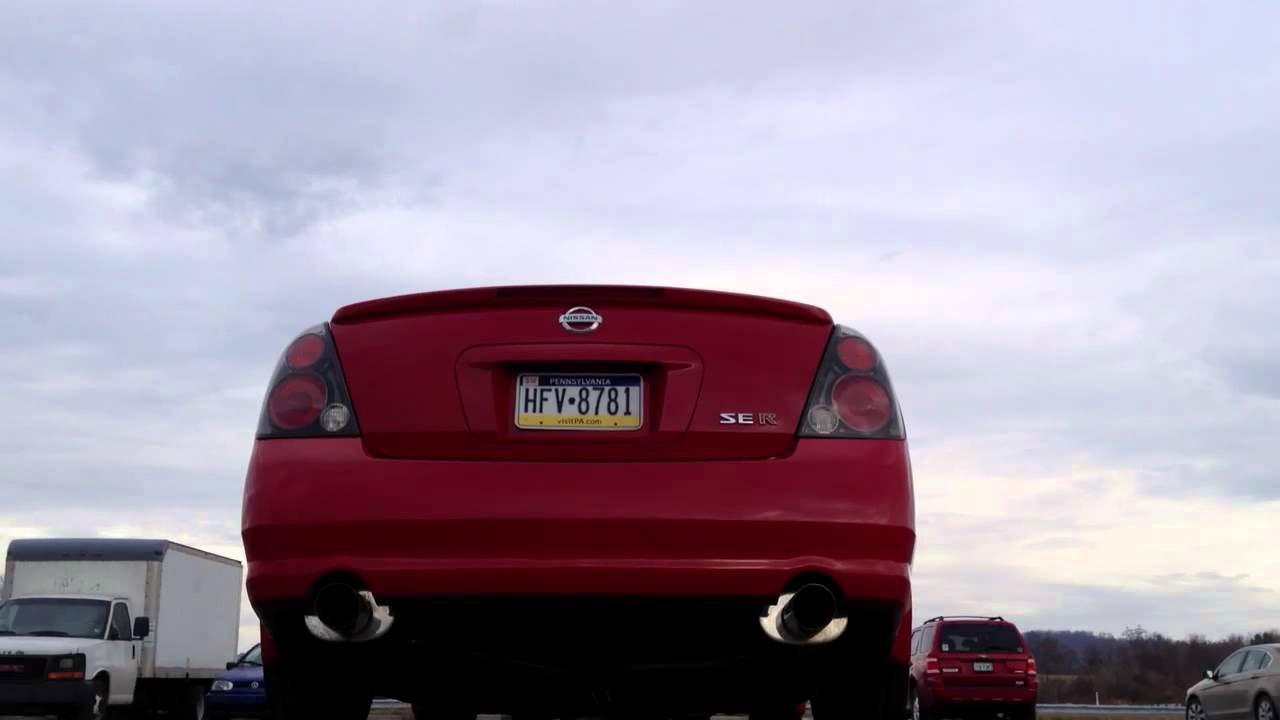 Nissan altima se r mossy performance exhaust youtube vanachro Image collections