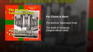 For Christ Is Born