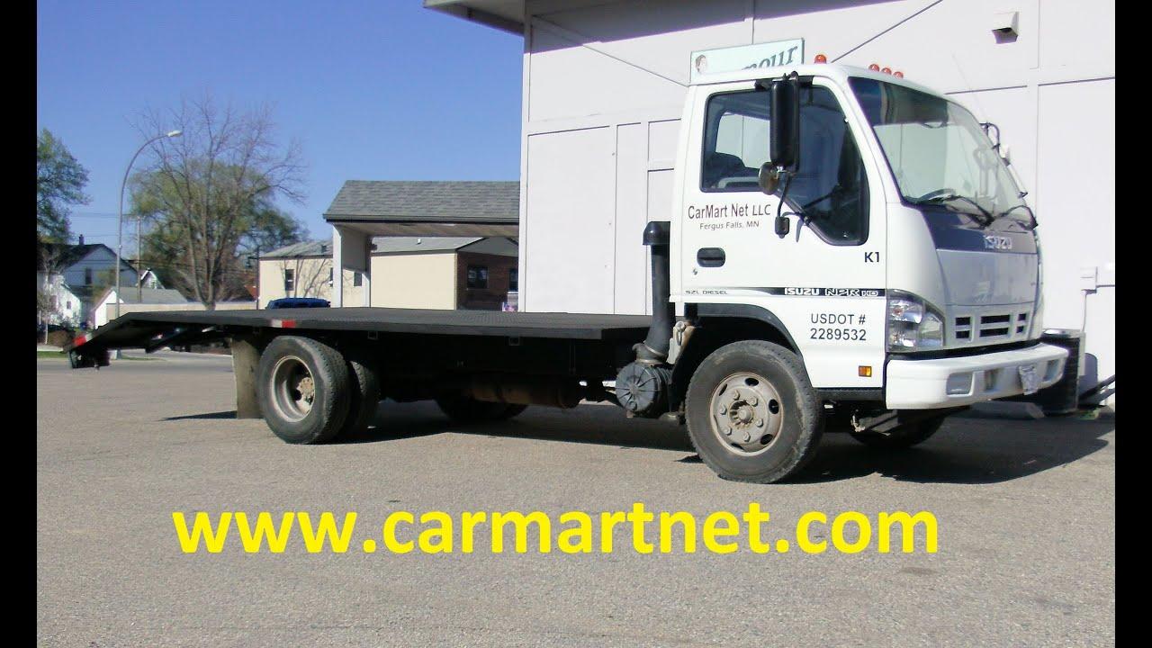 2006 Isuzu NPR HD Turbo Diesel Flatbed Truck Full Review by CarMart Net