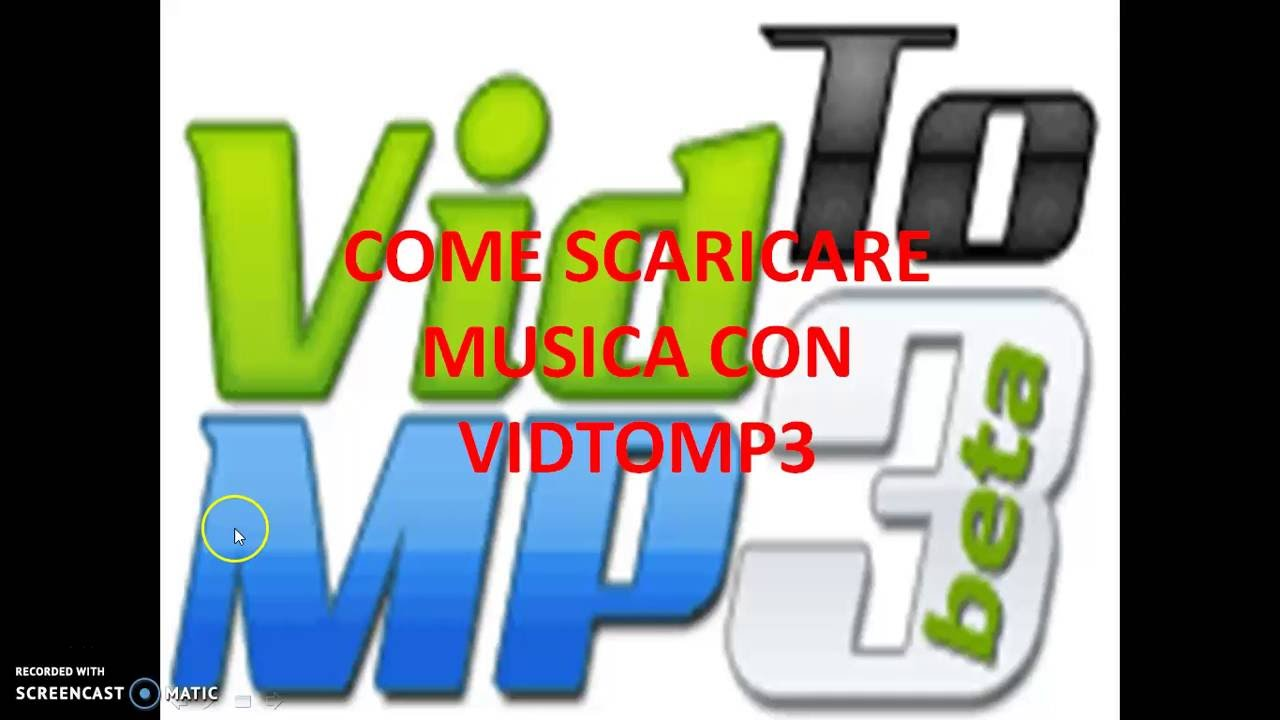 musica da youtube con vidtomp3